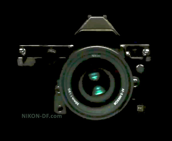 Nikon DF on black camera picture