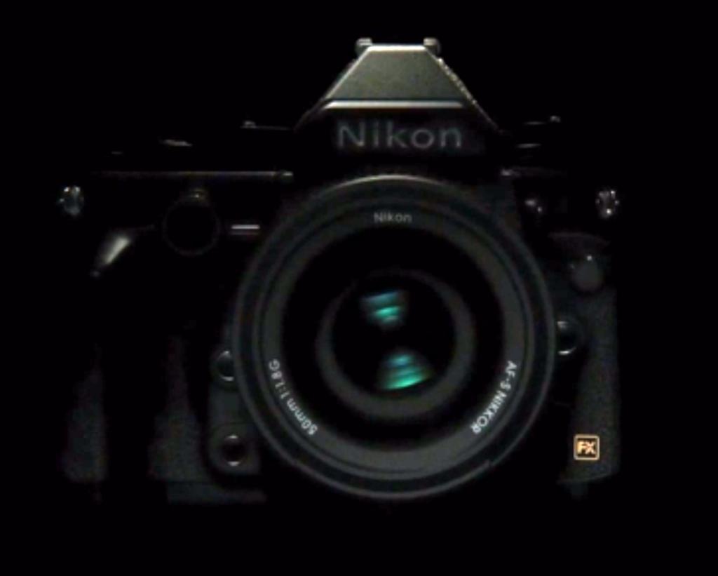 Nikon DF front of camera